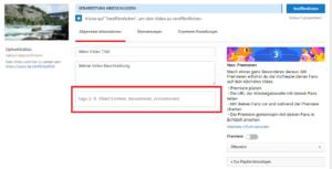 YouTube Video Tags einfügen für SEO
